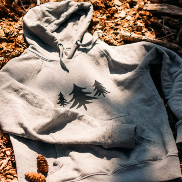 Front of hoodie, Forest Edge trees